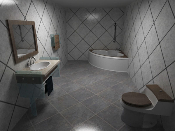 W C Contemporary Restroom Decor Max 3ds Max Software Architecture Objects