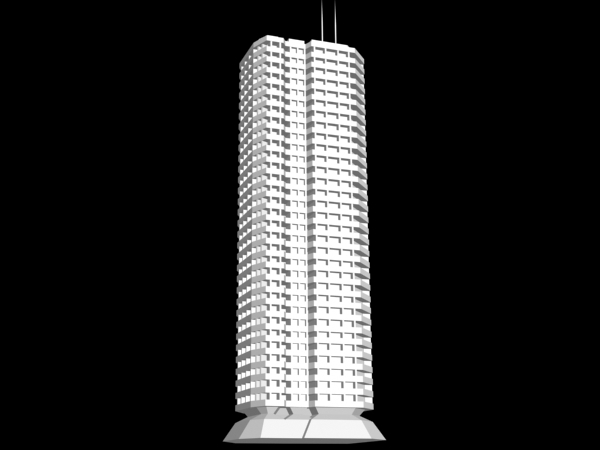 Building high rise residence max 3ds max software architecture