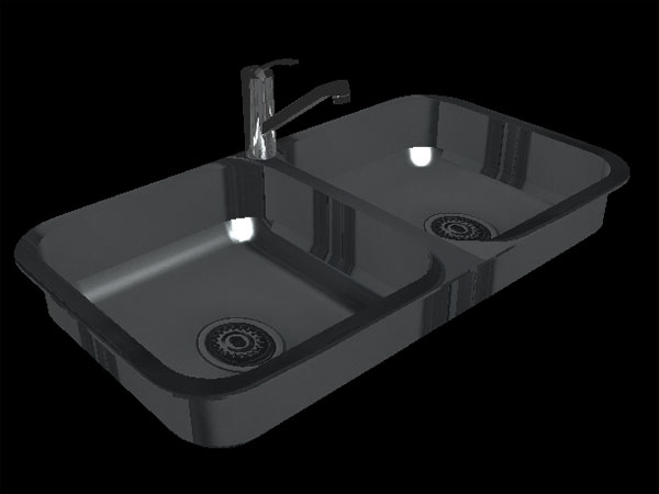 kitchen sink software kitchen sink fregadera 2 senos recta 3ds 3d 2891