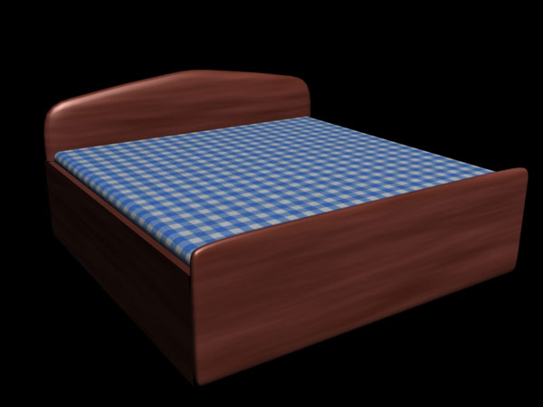 Bed Sizes King Queen and Twin Beds x 3ds max software